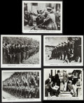 "Movie Posters:Documentary, The March of Time (20th Century Fox,1944). Photos (3) (approx. 8"" X 10"") & Trimmed Photos (2) (Various Sizes) Issue 10 Volum... (Total: 5 Items)"