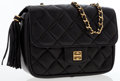 Luxury Accessories:Bags, Givenchy Black Quilted Leather Shoulder Bag with Gold Hardware . ...