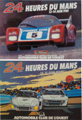 Automobilia, TEN LE MANS ORIGINAL EVENT ADVERTISING POSTERS . 1980-89. 15-3/4 x21 inches (40.0 x 53.3 cm). ... (Total: 10 Items)