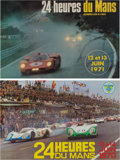Automobilia, FIVE LE MANS ORIGINAL EVENT ADVERTISING POSTERS BY DELOURMEL,JACQUELIN AND OTHER, 1970-74. 15-1/2 x 23-1/2 inches (39.4 x 5...(Total: 5 Items)