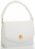 Luxury Accessories:Bags, Trussardi White Leather Top Handle Bag . ...