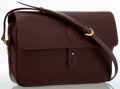 Luxury Accessories:Bags, Cartier Burgundy Leather Crossbody Bag. ...