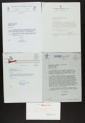 Baseball Collectibles:Others, 1940's-2000's Chicago White Sox Letters & Paper Ephemera FromCharles Comiskey II Lot of 40....
