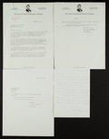 Autographs:Letters, 1959 Gary Peters, Richard Grant & Barry Latman Signed Lettersto Charles Comiskey II Lot of 3....