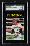 Baseball Cards:Singles (1970-Now), 1971 Topps Roberto Clemente #630 SGC 82 EX/MT+ 6.5. ...