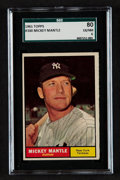 Baseball Cards:Singles (1960-1969), 1961 Topps Mickey Mantle #300 SGC 80 EX/NM 6....