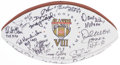 Football Collectibles:Balls, Pro Football Hall of Famers Multi Signed Football....