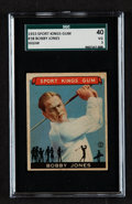 Golf Cards:General, 1933 Sport Kings Bobby Jones #38 SGC 40 VG 3....