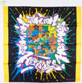 "Luxury Accessories:Accessories, Hermes 90cm Black & Yellow ""Graffiti,"" by Kong Silk Scarf. ..."