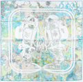 "Luxury Accessories:Accessories, Hermes 90cm Green & White ""Brides de Gala,"" by Hugo GrygkarSilk Scarf. ..."