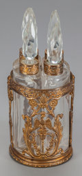 Decorative Arts, Continental:Other , A FRENCH GILT METAL AND GLASS QUADRUPLE BOTTLE PERFUME SET, circa1890. 4-3/4 inches high (12.1 cm) (including stopper). ... (Total:4 Items)