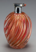 Decorative Arts, Continental:Other , A MURANO GOLD MICA ATOMIZER, circa 1950. 6-1/2 inches high (16.5cm). ...