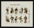 "Non-Sport Cards:Sets, C. 1889 ""Young America"" Set 4 - Printer's Proof Sheet (as N88 Duke""Terrors of America""). ..."