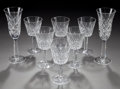 Miscellaneous, A SET OF EIGHT WATERFORD LISMORE PATTERN CHAMPAGNE AND REDWINE GLASSES, 20th century. Marks: Waterford. 8-... (Total:8 Items)