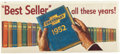 "Automobilia, CHEVROLET ""BEST SELLERS ALL THESE YEARS"" POSTER. 1952. 27 x 63inches (68.6 x 160.0 cm). ..."