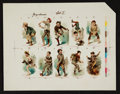 "Non-Sport Cards:Sets, C. 1890 ""Young America"" Set 1 - Printer's Proof Sheet (as N88 Duke""Terrors of America""). ..."