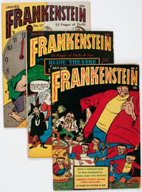 Frankenstein Comics Group (Prize, 1946-49) Condition: Average VG/FN.... (Total: 7 Comic Books)
