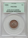 Proof Indian Cents, 1886 1C Type One PR67 Brown PCGS....