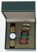 Luxury Accessories:Accessories, Gucci Gold Watch with Interchangeable Bezels. ...