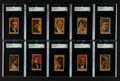 Non-Sport Cards:Sets, Circa 1919 W-Unc Movie Stars - Numbered Complete Run (10). ...