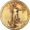 High Relief Double Eagles, 1907 $20 High Relief, Wire Rim -- Cleaning -- PCGS Genuine. Unc Details....