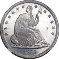 Patterns, 1863 50C Half Dollar, Judd-344, Pollock-416, High R.7, PR65 NGC....