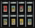 Baseball Cards:Sets, 1920 W516-1 Baseball Type 2 (White) SGC Graded Group (8) With Cobb. ...