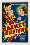 "Movie Posters:Crime, Racket Busters (Warner Brothers, 1938). One Sheet (27.25"" X 41"").Crime.. ..."
