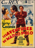 "Movie Posters:Adventure, The Adventures of Marco Polo (United Artists, 1938). Pre-WarBelgian (23.5"" X 33""). Adventure.. ..."