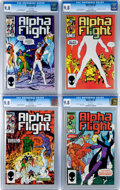Modern Age (1980-Present):Superhero, Alpha Flight CGC-Graded Group (Marvel, 1985) Condition: CGC NM/MT9.8.... (Total: 4 Comic Books)