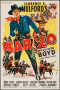 "Movie Posters:Western, Bar 20 (United Artists, 1943). One Sheet (27"" X 41""). Western.. ..."