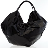 Valentino Black Coated Canvas Nuage Bow Tote Bag