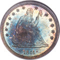 Proof Seated Quarters, 1861 25C PR66 NGC. Briggs 7-E....