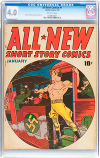 All New Comics #1 (Family Comics, 1943) CGC VG 4.0 Off-white pages