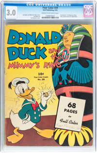 Four Color #29 Donald Duck (Dell, 1943) CGC GD/VG 3.0 Cream to off-white pages