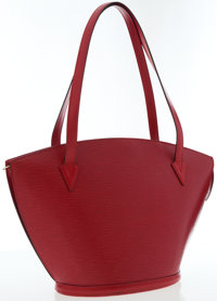 Louis Vuitton Red Epi Leather Saint Jacques GM Tote Bag