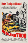 """Movie Posters:Sports, Red Line 7000 (Paramount, 1965). One Sheet (27"""" X 41"""") & Lobby Card Set of 8 (11"""" X 14""""). Sports.. ... (Total: 9 Items)"""