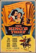 "Movie Posters:Adventure, The King's Thief & Other Lot (MGM, 1955). Posters (2) (40"" X60"") Styles Y & Z. Adventure.. ... (Total: 2 Items)"