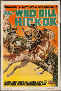 "The Great Adventures of Wild Bill Hickok (Columbia, 1938). Stock One Sheet (27"" X 41"") Style B. Serial"