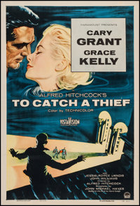"To Catch a Thief (Paramount, 1955). One Sheet (27"" X 40.75""). Hitchcock"