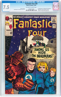 Fantastic Four #45 (Marvel, 1965) CGC VF- 7.5 Off-white to white pages