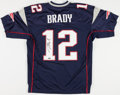 Football Collectibles:Uniforms, Tom Brady Signed New England Patriots Jersey....