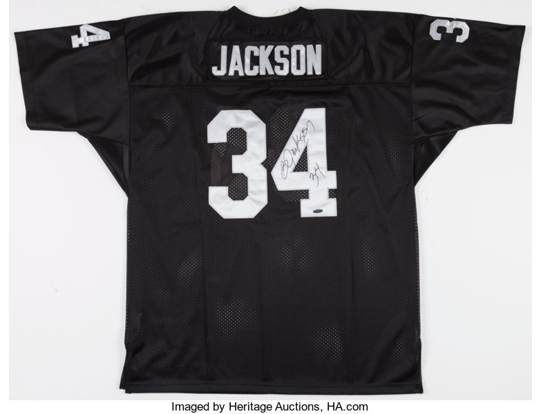 separation shoes 31552 2f59a Bo Jackson Signed Los Angeles Raiders Jersey.... Football ...