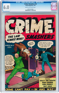 Crime Smashers #9 (Ribage Publishing, 1952) CGC FN 6.0 Cream to off-white pages