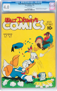Walt Disney's Comics and Stories #2 (Dell, 1940) CGC VG 4.0 Cream to off-white pages