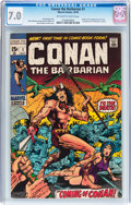 Bronze Age (1970-1979):Adventure, Conan the Barbarian #1 (Marvel, 1970) CGC FN/VF 7.0 Off-white to white pages....