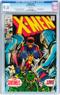 Silver Age (1956-1969):Superhero, X-Men #57 (Marvel, 1969) CGC VF/NM 9.0 White pages....