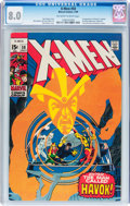Silver Age (1956-1969):Superhero, X-Men #58 (Marvel, 1969) CGC VF 8.0 Off-white to white pages....
