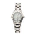 Timepieces:Wristwatch, Lady's Tag Heuer Aquaracer Steel Wristwatch Like New/Old Stock. ...