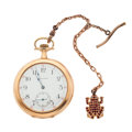 Timepieces:Pocket (post 1900), Waltham 14k Gold 17 Jewel Open Face Pocket Watch. ...